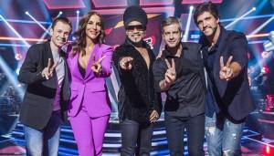 Tiago Leifert, Ivete Sangalo, Carlinhos Brown, Victor e Léo (Foto: Globo/Caiuá Franco)