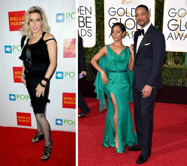 A atriz Alexis Arquette e o calsa Jada Pinkett Smith e Will Smith (Foto: Getty Images)