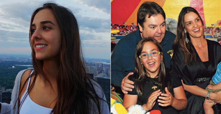 Faustão e a filha Lara Silva (Foto: Reprodução)