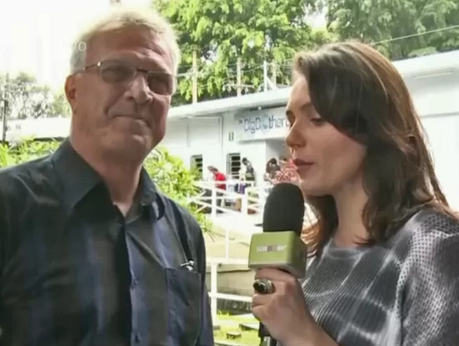 Pedro Bial e Monica Iozzi (Foto: Vídeo Show / TV Globo)