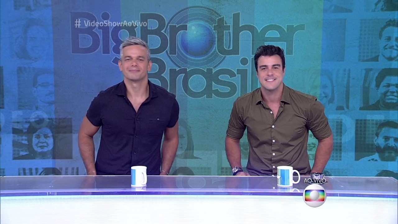 """Otaviano Costa e Joaquim Lopes no comando do """"Vídeo Show"""" (Foto: Reprodução/Globo)"""