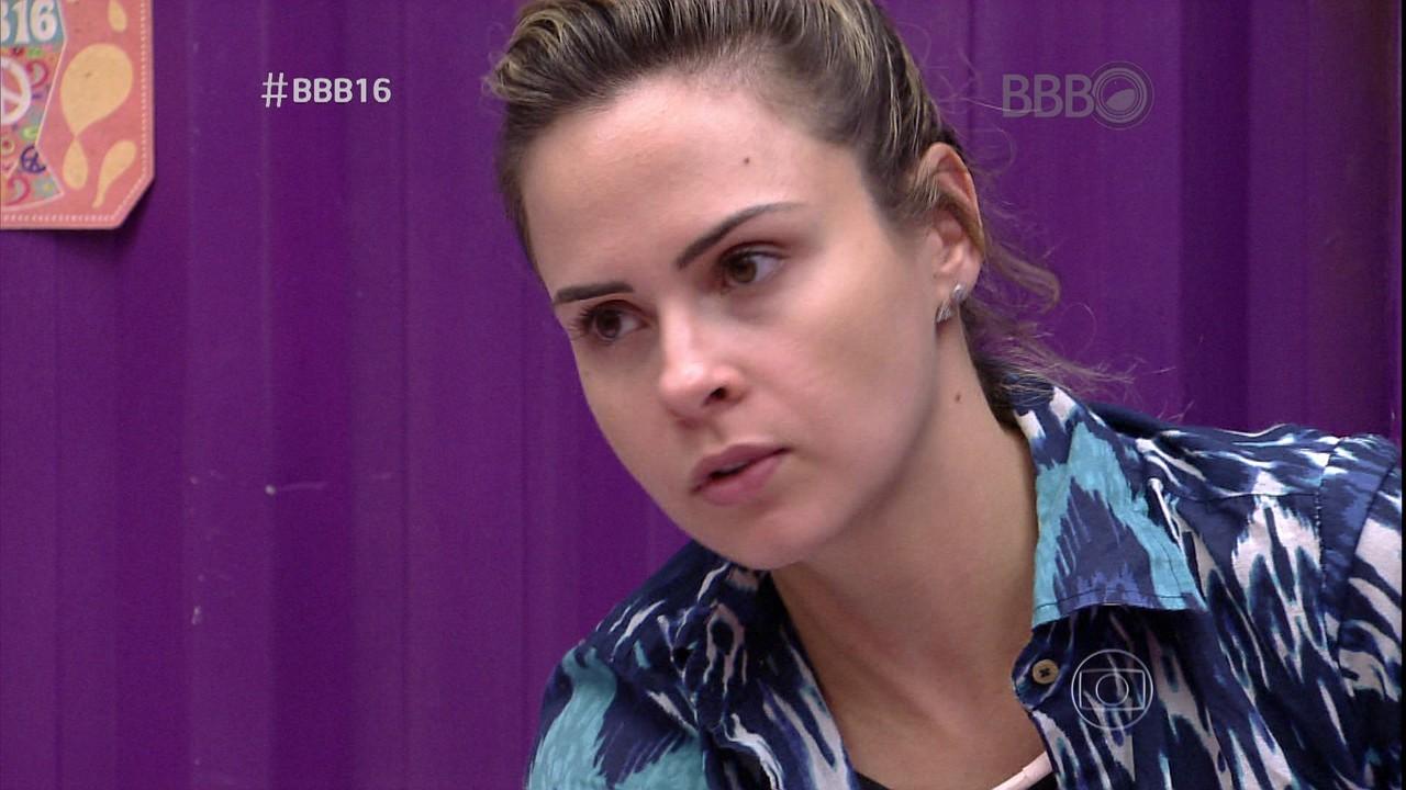 """Ana Paula no """"BBB 16"""" do último sábado (20) (Foto: Reprodução/Globo)"""