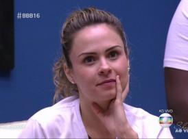 """Ana Paula no """"BBB 16"""" de ontem (11), que bateu recorde no Rio (Foto: Reprodução/Globo)"""