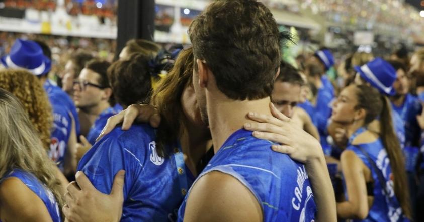 Klebber Toledo e Mônica Iozzi juntos no Carnaval (Foto AgNews)
