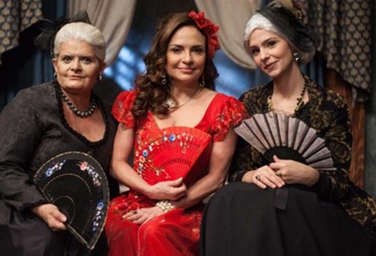 Jussara Freire, Luíza Tomé e Karen Marinho (Foto: Edu Moraes/Record)
