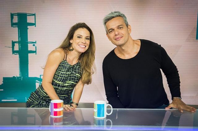 Maíra Charken e Otaviano Costa (Foto: Globo/João Miguel Júnior)
