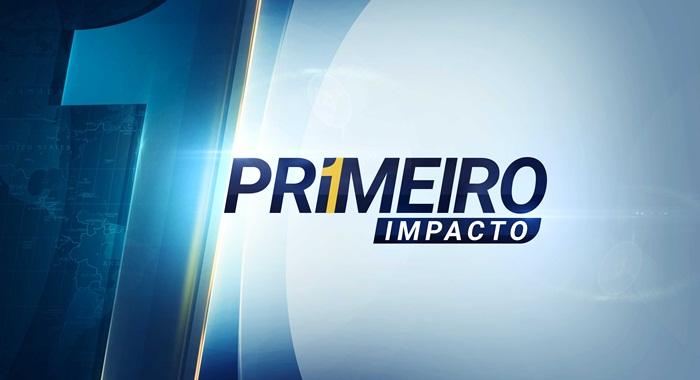 """Logo do """"Primeiro Impacto"""", telejornal do SBT"""