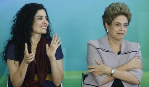 Letícia Sabatella e Dilma Rousseff (Foto: Divulgação)