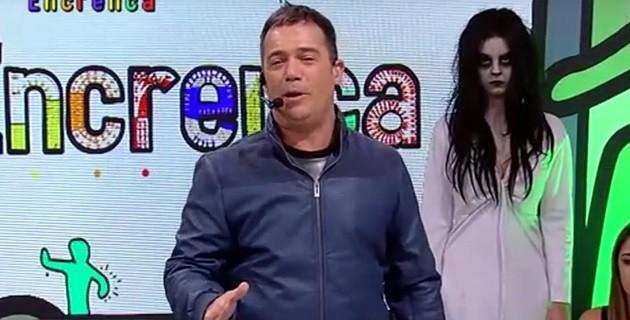 Momento do programa Encrenca, na RedeTV (Foto: Reprodução)