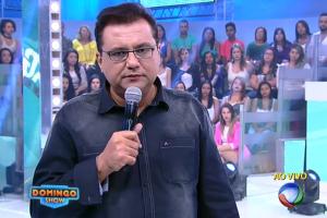 """Geraldo Luís durante seu último """"Domingo Show"""", no dia 17 (Foto: Reprodução/Record)"""