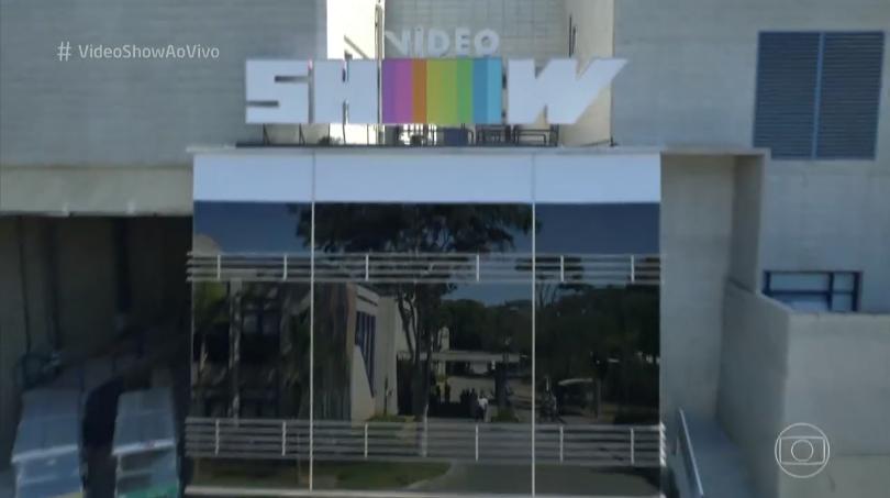 """Parte externa do novo estúdio do """"Vídeo Show"""" (Foto: Reprodução/Globo)"""