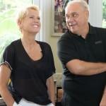 Marcelo Rezende em entrevista à Xuxa em janeiro (Foto: Blad Meneghel)
