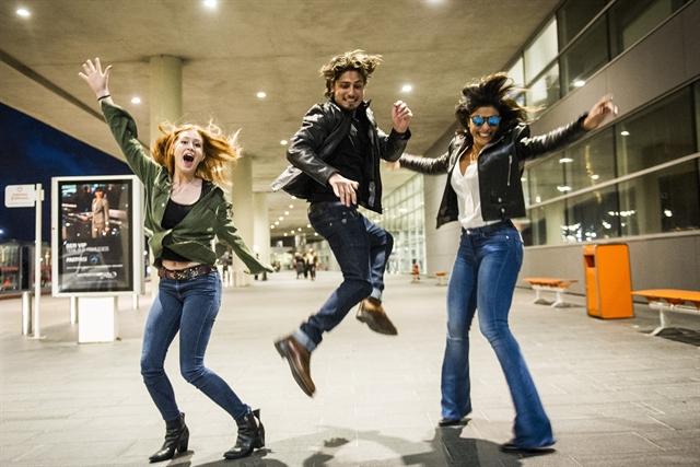 Aeroporto Montivideu Uruguai - Marina Ruy Barbosa, Daniel Rocha e Juliana Paes (Foto: Globo/João Miguel Júnior)