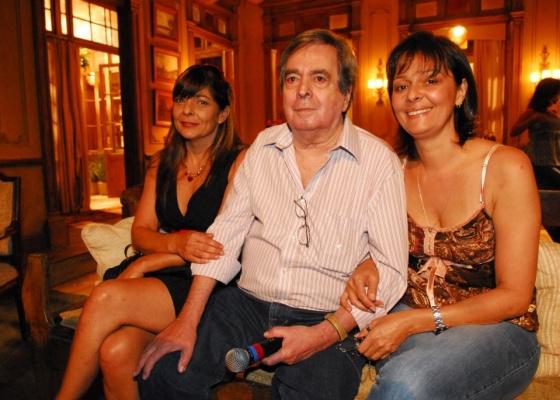 Edlene, Edmara e Benedito Ruy Barbosa na Globo. (Foto: Divulgação)