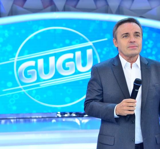 Gugu em seu programa na Record (Foto: Antonio Chahestian)