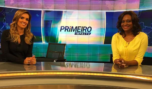 """Karyn Bravo e Joyce Ribeiro no comando do """"Primeiro Impacto"""" (Foto: Reprodução/Instagram)"""