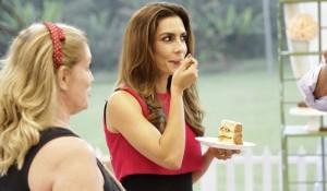 """Ticiana Villas Boas na estreia da segunda temporada do """"Bake Off Brasil"""" (Foto: Gabriel Gabe/SBT)"""