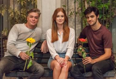 Arthur (Fábio Assunção), Eliza (Marina Ruy Barbosa) e Jonatas (Felipe Simas) (Foto: Globo/Artur Meninea)