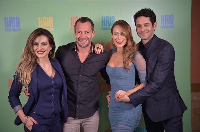 Cleo Pires, Malvino Salvador, Mariana Ximenes e Joao Baldasserini (Foto: Globo/Caiuá Franco)