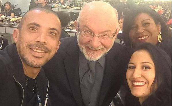 Silvio de Abreu em fotografia nos bastidores do SBT (Foto: Reprodução/Instagram)