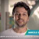Marcelo Serrado em propaganda do PSDB (Foto: Reprodução)