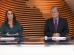 """Ana Luíza Guimarães e Chico Pinheiro no """"Bom Dia Brasil"""" de ontem (28) (Foto: Reprodução/Globo)"""
