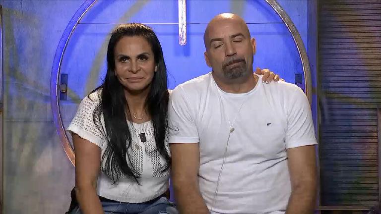 """Gretchen e Carlos no """"Power Couple"""" (Foto: Divulgação/Record)"""