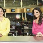 "Carla Cecato e Roberta Piza no comando do ""Fala Brasil"" (Foto: Edu Moraes/Record)"