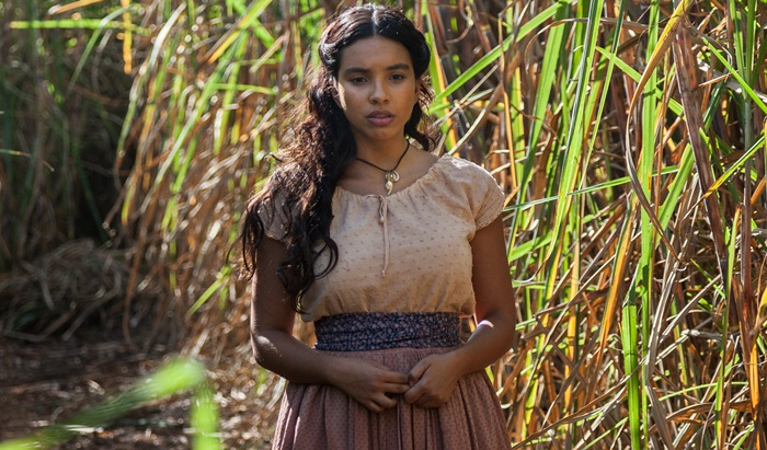 """Juliana (Gabriela Moreyra) em cena de """"Escrava Mãe"""" (Foto: Edu Moraes/Record)"""