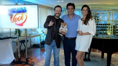 """Edu, Zucatelli e Mariana, apresentadores do """"Melhor Pra Você"""" (Foto divulgação)"""