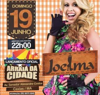 Cartaz de divulgação do show da cantora Joelma no Maranhão (Foto reprodução)