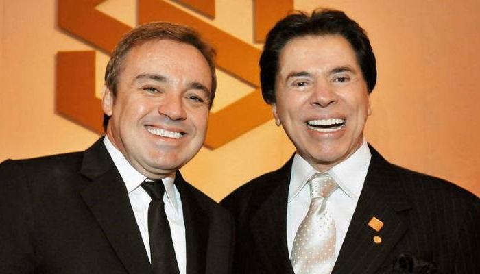 Gugu e Silvio Santos durante festa do GSS em 2008 (Foto: Divulgação)