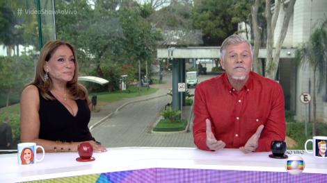 """Susana Vieira e Miguel Falabella no """"Vídeo Show"""" (Foto: Reprodução/Globo)"""
