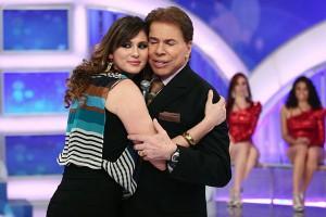 Silvio Santos e Lívia Andrade (Foto: Divulgação)