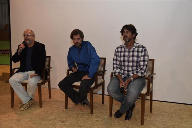 Emanuel Jacobina , Leo Nogueira e Adriano Melo (Foto: Globo/Cesar Alves)
