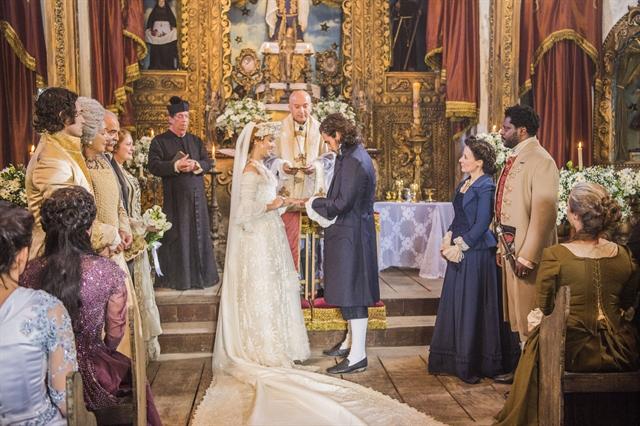 Casamento de Xavier (Bruno Ferrari) e Branca (Nathalia Dill) (Foto: Globo/Caiuá Franco)