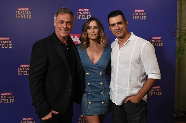Oscar Magrini , Deborah Secco e Marcos Pasquim (Foto: Globo/Estevam Avellar)