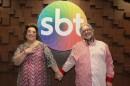 Mamma ao lado de Leão Lobo no SBT. (Foto: Divulgação)