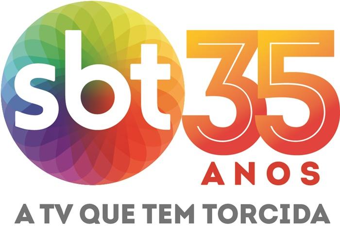 Logo comemorativo para os 35 anos do SBT (Foto: Divulgação/SBT)