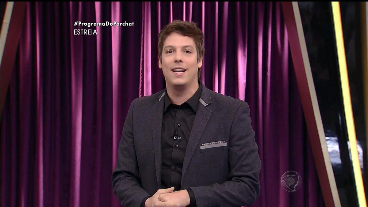 Fábio Porchat na estreia de seu talk show na Record (Foto: Reprodução/Record)