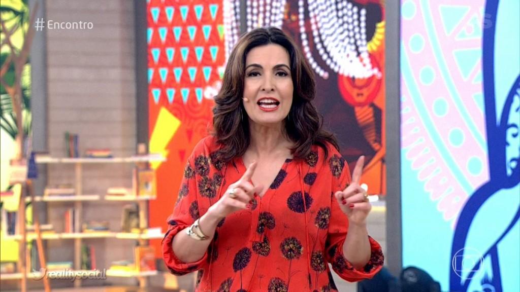 """Fátima Bernardes no """"Encontro"""" desta terça-feira (30) (Foto: Reprodução/Globo)"""