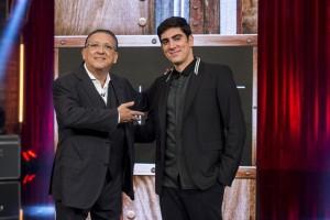 """Marcelo Adnet e Galvão Bueno na estreia do """"Adnight"""" (Foto: Globo/Estevam Avellar)"""