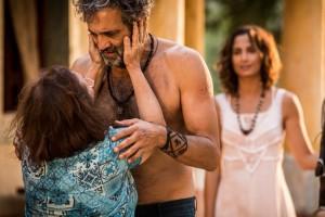 Santo se emociona ao rever Piedade (Foto: Inácio Moraes/ Gshow)