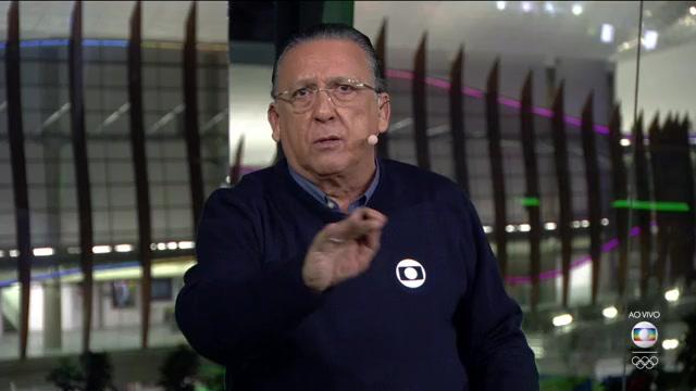 Galvão Bueno na transmissão da partida entre Brasil e Iraque, ontem (07) (Foto: Reprodução/Globo)