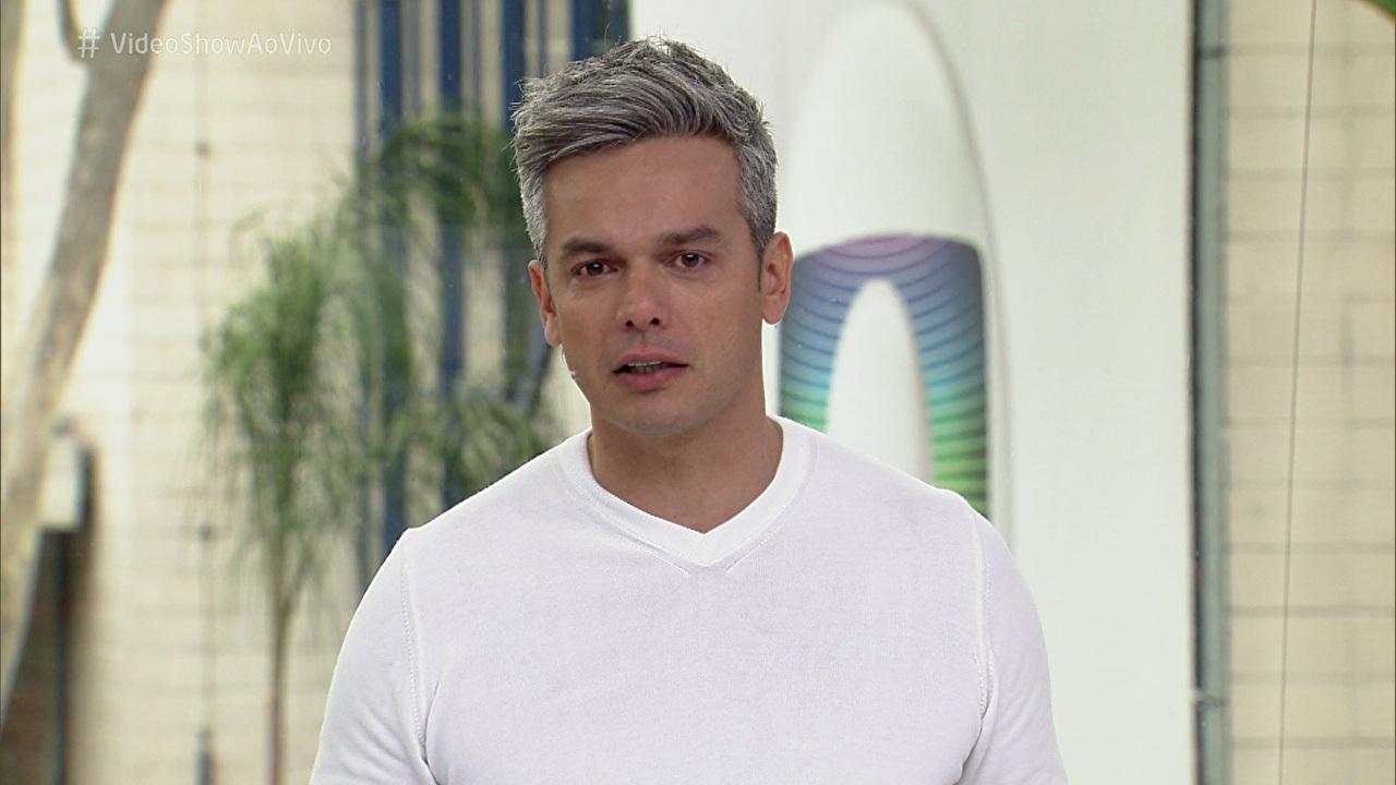 """Otaviano Costa no comando do """"Vídeo Show"""", na última sexta-feira (16) (Foto: Reprodução/Globo)"""