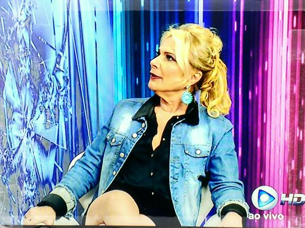 Lucimara Parisi no programa em Revista na RBTV (Foto: Reprodução)