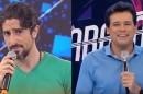Marcos Mion e Celso Portiolli, concorrentes nas noites de sábado (Foto: Reprodução/Record/SBT/Montagem)