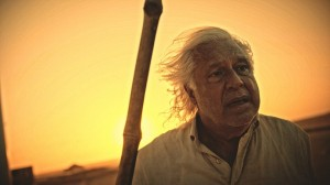 Afrânio (Antonio Fagundes) se desfaz de toda a sua alegoria de Saruê e clama por Martim (Foto: Divulgação/Globo)