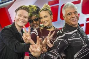 Michel Teló, Carlinhos Brown, Claudia Leitte e Lulu Santos (Foto: Globo/Mauricio Fidalgo)