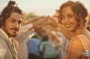 Miguel (Gabriel Leone) e Tereza (Camila Pitanga) aos olhos de Santo (Foto: Reprodução/Globo)